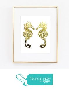 Kissing Seahorse Sea ocean Vintage Old Gold Foil Wall Art Print Home Decor poster 0494 from Artlantida http://www.amazon.com/dp/B016NK1M5M/ref=hnd_sw_r_pi_dp_lvDKwb11ZTBHC #handmadeatamazon
