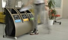 Designers Top Pick: GreenBin a stylish and modern recycling bin for public spaces and commercial buildings.