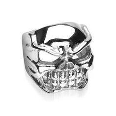 Dead Darling - Rocker Biker Dangerous Style Stainless Steel Ring. #BuyBlueSteel #SkullRing