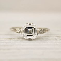 this one 1.01 Carat Asscher Cut Diamond Engagement Ring by Tiffany and Co