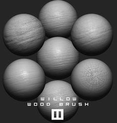 Willow Wood Brush, William Ordonneau on ArtStation at https://www.artstation.com/artwork/nB3z4