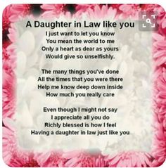 """Printable Daughter In Law Poems Bing Images Birthday Wishes Daughter In Law Sayings Quotations Poem Daughter In Law Poem I Daughter In Law Poems Quote Addicts Daughter In Law Quotes … Read More """"Daughter In Law Quotes Poems"""" Birthday Verses For Daughter, Daughter In Law Quotes, Birthday Greetings For Daughter, Birthday Wishes For Mother, Daughter In Law Gifts, Birthday Quotes For Daughter, Husband Birthday, Friend Birthday, Best Birthday Quotes"""