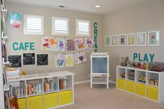 """Playroom kitchen toy coined """"cafe"""", love it."""