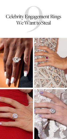 We're obsessed with these gorgeous celebrity engagement rings.