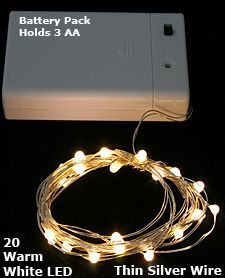 Check out the deal on 20 Warm White LED's on Flexible Silver Wire Battery Mini Lights at Battery Operated Candles