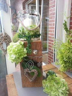 Windlicht - New Ideas Outdoor Christmas Decorations, Light Decorations, Christmas Diy, Spring Decorations, Porch Decorating, Rustic Decor, Ladder Decor, Fall Decor, Home Decor