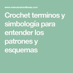 Crochet terminos y simbología para entender los patrones y esquemas Crochet Throw Pattern, Patterns
