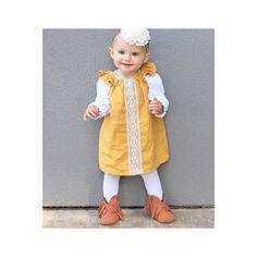 Girls dress Lily dress in mustard red beige black Flutter 7f66089cd1b7