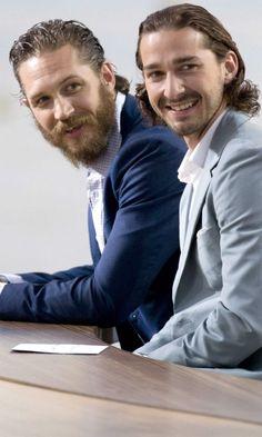Tom Hardy: Shia LaBeouf :) Tom Hardy looks like Ope from SOA with this man beard.