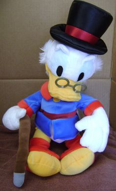 """Disney Store 18"""" Uncle Scrooge McDuck Donald Duck  Plush Toy Stuffed  Doll       #Disney"""