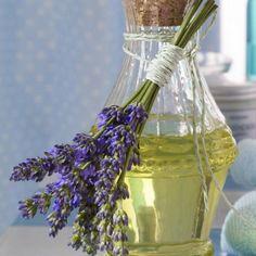Ideen für Hausdekoration mit Lavendel - Flasche mit Lavendel