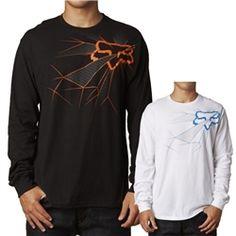 2013 Fox Racing Hair Raiser Long Sleeve Casual Motocross Adult Apparel Shirts