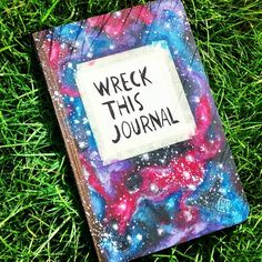 Wreck This Journal   Cover  Galaxy Painting