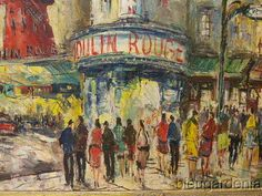 Original Oil Painting Signed Adrien Beauval Paris Moulin Rouge | eBay