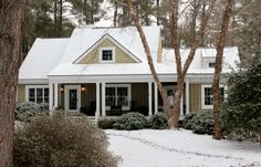 105 front of house in snow