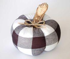 Buffalo Plaid Pumpkin, Fall Decor, Fabric Pumpkin, Halloween Pumpkin, Buffalo…