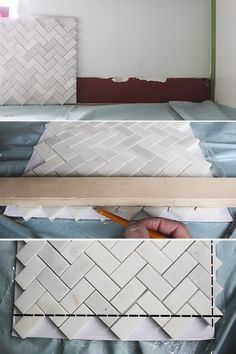 Directions to do herringbone tile pattern hint for mike chevrons how to install a kitchen tile backsplash ppazfo