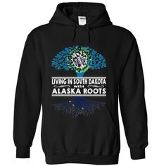 Living in #South Dakota with Alaska Roots, Order HERE ==> https://www.sunfrog.com/States/Living-in-South-Dakota-with-Alaska-Roots-ocmodgzzwj-Black-Hoodie.html?6789, Please tag & share with your friends who would love it , #christmasgifts #renegadelife #jeepsafari  #south dakota hiking, south dakota camping, mount rushmore south dakota  #entertainment #food #drink #gardening #geek #hair #beauty #health #fitness #history