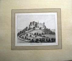 1776 Rosenberg Aquatint Chateau DORNACH Dorneck Solothurn SWITZERLAND wash