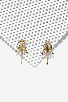 Luv Aj Tusk Spear Flare Earrings | Nasty Gal