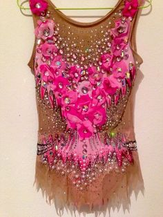 rhythmic gymnastic leotard pink