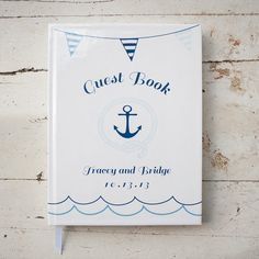 Custom Wedding Guestbook, Guest Book - Nautical wedding, Personalized, Customized, Wedding Date and names, custom design