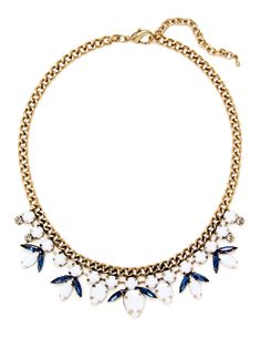 Teardrop & Marquise Bib Necklace by Leslie Danzis at Gilt