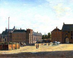 Berckheyde, Gerrit (Dutch, 1638-1698) - The Plaats with the Binnenhof and the Gevangenpoort (Prisoners' Gate) in The Hague - c 1690 | Flickr - Photo Sharing!
