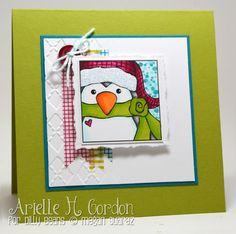 Penguin Christmas Card by Arielle Gordon