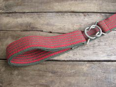 vintage c. 1980s red and olive green striped by MouseTrapVintage, $18.00