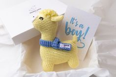 It's a Boy new mom baby shower pregnancy gift Crochet   Etsy Baby Shower Gifts For Boys, Baby Boy Shower, Crochet For Boys, Boy Crochet, Alpaca Toy, New Mommy Gifts, Baby Baskets, Pregnancy Gifts, Gender Neutral Baby