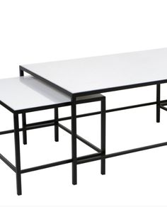 3 Piece Cocktail Coffee Table - Iron Finish – Allissias Attic & Vintage French Style
