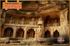 Hello, Travelers! #Saturday_Fun Contest. Identify the Place? Watch these marvels of ancient Indian masonry with single rock cut sculptures of #Jain_Tirthankaras. The details and intricacies of the rock-cutters is just beyond the mesmerism!  Ain't you find these monuments built more than two thousand years before unbelievable? See, with your own eyes and fall in love with environ of eternal bliss with Maharaja express!  By the way, is there anyone among you who could identify the spot?