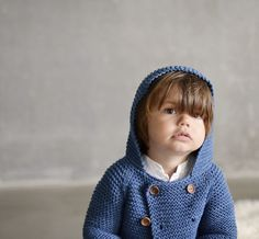 Abrigo corto con capucha Duende de algodón en punto bobo | Nottocbaby