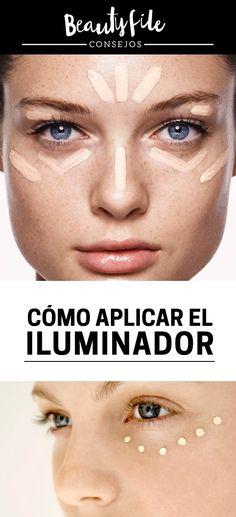 ¿Cómo aplicar el iluminador en el rostro? Toma nota de los consejos de los makeup artist pro. Beauty Skin, Makeup, How To Make, Makeup Techniques, Note, Nails, Appliques, Tips, Make Up