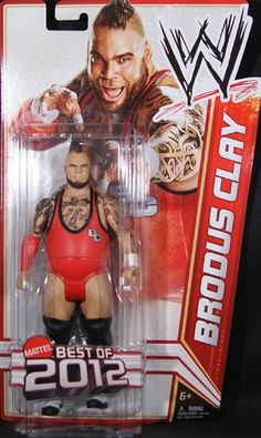 """BRODUS CLAY - WWE SERIES """"BEST OF 2012"""" TOY WRESTLING ACTION FIGURE"""