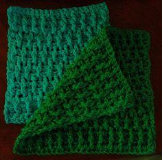 Staggered Ribs Washcloth pattern by Amanda Franklin ~ free pattern