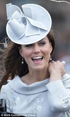 Catherine, Duchess of Cambridge attending the Trooping the Colour Ceremony in London, in Jane Corbett hat & Erdem dress