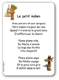 Comptine Le petit indien                                                                                                                                                      Plus Cowboys Vs, French Education, Le Far West, School Themes, Origami Art, Native Indian, First Nations, Continents, Preschool