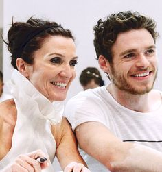 Michelle Fairley and Richard Madden at SDCC