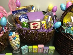 Spring Easter themed gift basket
