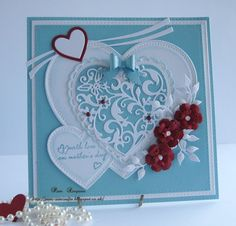 pamscrafts: Mothers Day Card.. Hearts.