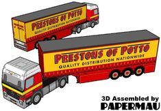 Prestons Of Potto Long Truck Paper Model - by Norbtach