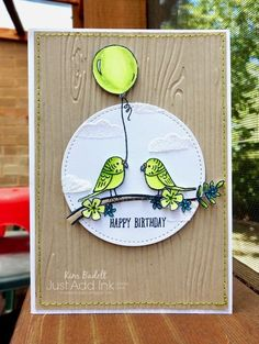 Stampin Up Bird Banter birthday card by Kim