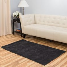 Hand-Tufted Charcoal Area Rug