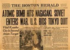 Newspaper Article of the Bombing of Japan in the 1940's