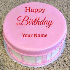 Create Name Birthday Cake Pics For Whatsapp Online Beautiful Pink Birthday Wishes New Cake With