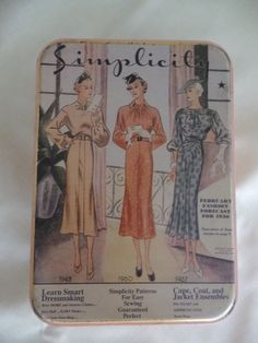 Vintage Simplicity Sewing Patterns Tin by HapevilleVintage on Etsy