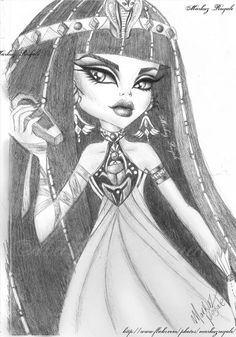 Cleo D Nile drawing by Markuz Royale   Flickr - Photo Sharing!