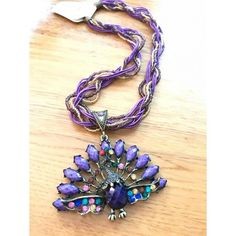 "Bohemian Ketting ""Purple Peacock"""